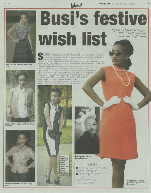 Final Fashion Article for 2013 – Evening Echo