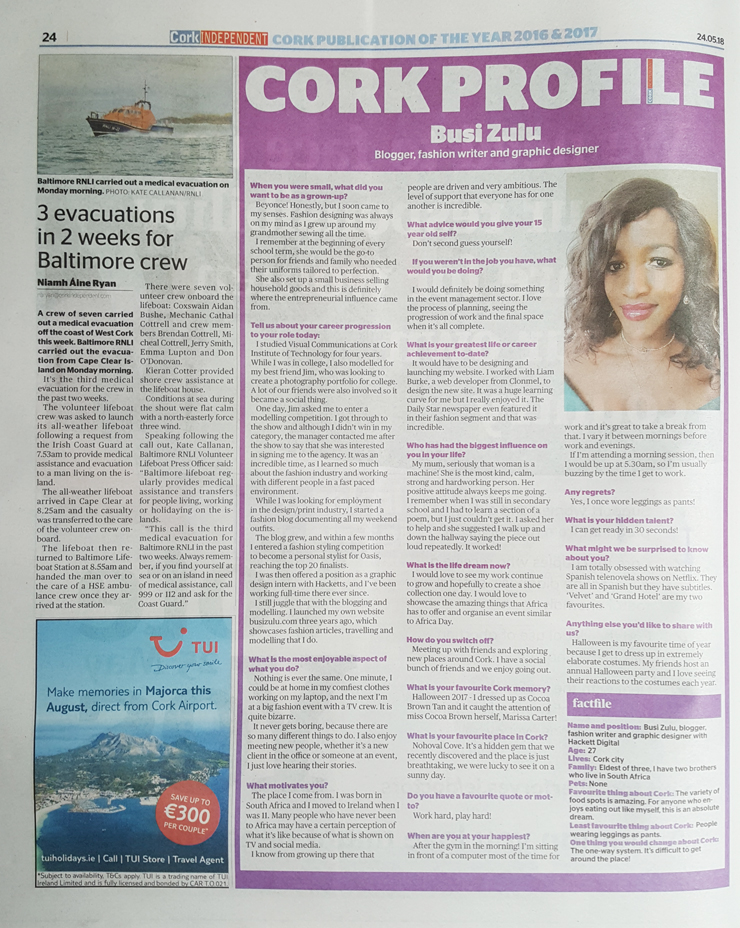 Cork Independent – Feature